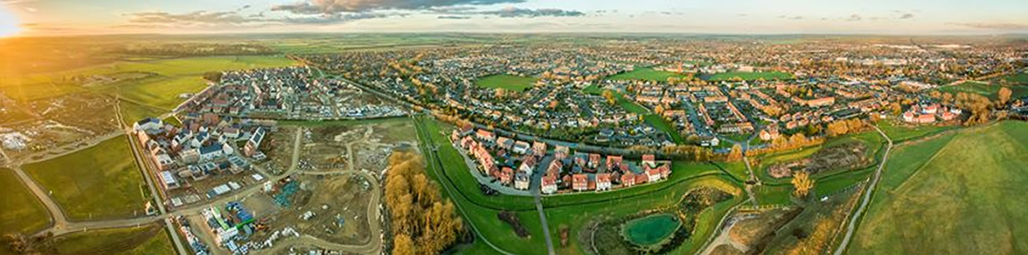 Arial photo of Bicester
